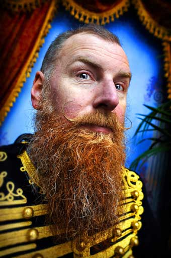 Natural Full Beard styled moustache winner Anthony Springall from Scarborough, North Yorks.