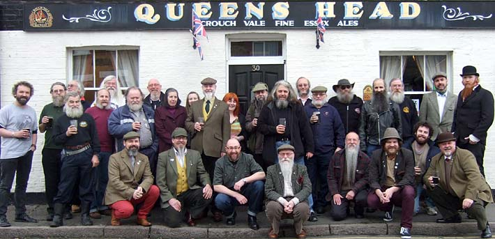 The Anniversary Gathering outside The Queens Arms