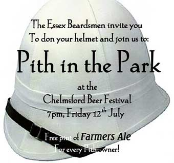 'Pith In The Park' on Friday July 12th at Chelmsford Beer Festival - Click to enlarge