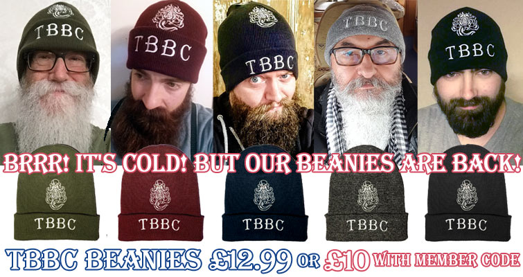 TBBC Beanies are back in Moss Green, Burgundy, French Navy Blue, Heather Grey and Black £12.99 inc UK P&P or £10 with TBBC Member discount. Email us for the code!