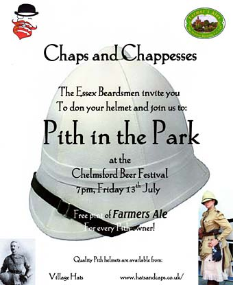 'Pith In The Park' on July 13th at Chelmsford Beer Festival