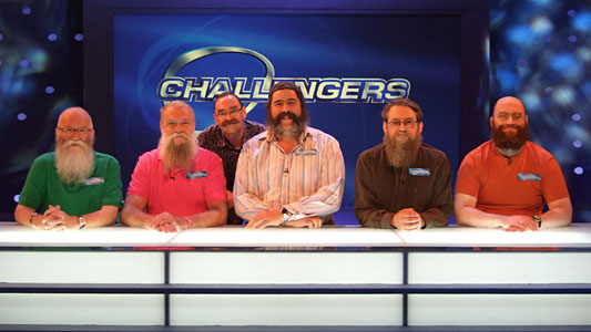 5 British Beards and 1 Moustache ready to crack the Eggheads