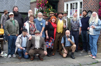 South-East members at The Snowdrop Inn in Lewes, East Sussex - Click to enlarge