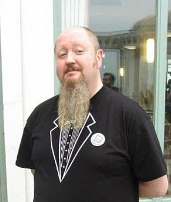 Goatee winner Paul Coupe from Sheffield, South Yorks.